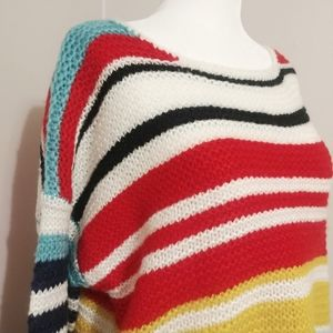 Dreamers | Oversized Loose Knit Colorful Sweater M